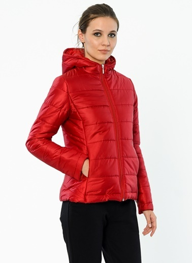 Cazador Kapüşonlu Şişme Mont Kırmızı